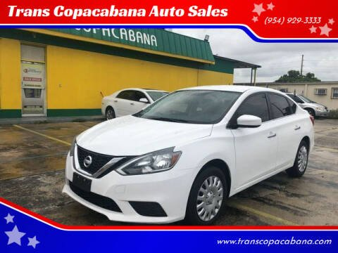 2016 Nissan Sentra for sale at Trans Copacabana Auto Sales in Hollywood FL