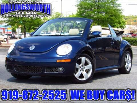 2006 Volkswagen New Beetle Convertible for sale at Hollingsworth Auto Sales in Raleigh NC