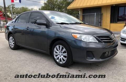 2013 Toyota Corolla for sale at AUTO CLUB OF MIAMI in Miami FL