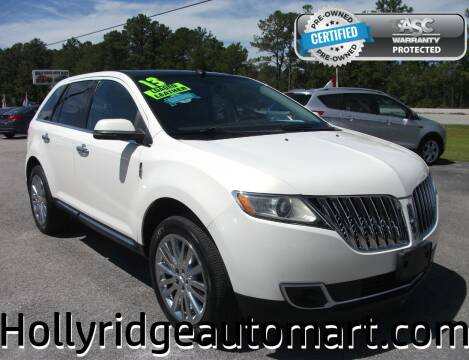 2013 Lincoln MKX for sale at Holly Ridge Auto Mart in Holly Ridge NC
