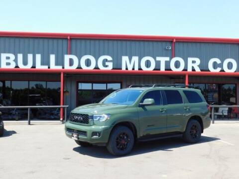 2020 Toyota Sequoia for sale at Bulldog Motor Company in Borger TX