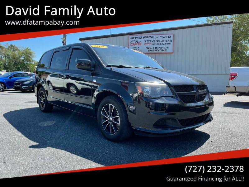 2014 Dodge Grand Caravan for sale at David Family Auto in New Port Richey FL