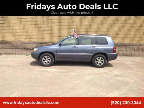 2006 Toyota Highlander for sale at Fridays Auto Deals LLC in Oshkosh WI