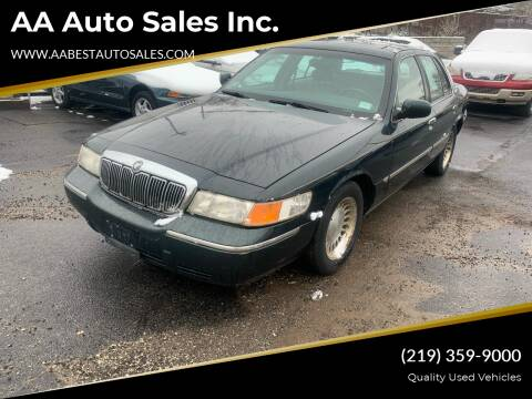 2002 Mercury Grand Marquis for sale at AA Auto Sales Inc. in Gary IN
