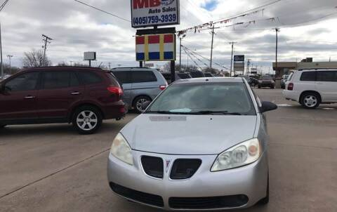2007 Pontiac G6 for sale at MB Auto Sales in Oklahoma City OK