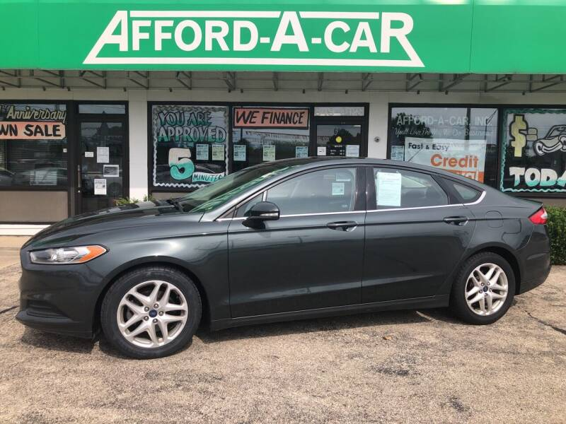2015 Ford Fusion for sale at Afford-A-Car in Dayton/Newcarlisle/Springfield OH