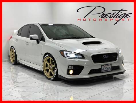 2015 Subaru WRX for sale at Prestige Motorsport in Rancho Cordova CA