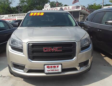 2013 GMC Acadia for sale at Best Auto & tires inc in Milwaukee WI