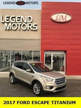 2017 Ford Escape for sale at Legend Motors of Waterford - Legend Motors of Ferndale in Ferndale MI
