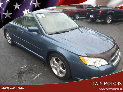 2009 Subaru Legacy for sale at TWIN MOTORS in Madison OH