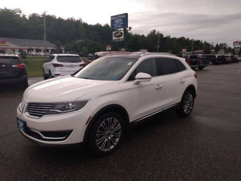 2017 Lincoln MKX for sale at Ripley & Fletcher Pre-Owned Sales & Service in Farmington ME