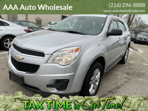 2012 Chevrolet Equinox for sale at AAA Auto Wholesale in Parma OH