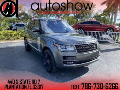 2016 Land Rover Range Rover for sale at AUTOSHOW SALES & SERVICE in Plantation FL