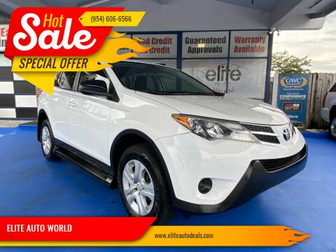 2015 Toyota RAV4 for sale at ELITE AUTO WORLD in Fort Lauderdale FL