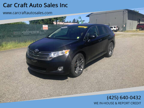 2009 Toyota Venza for sale at Car Craft Auto Sales Inc in Lynnwood WA