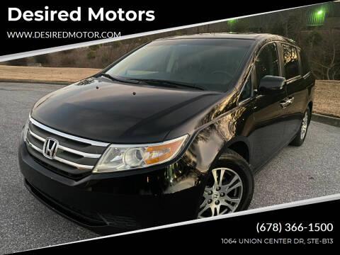 2012 Honda Odyssey for sale at Desired Motors in Alpharetta GA