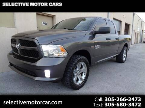 2014 RAM Ram Pickup 1500 for sale at Selective Motor Cars in Miami FL