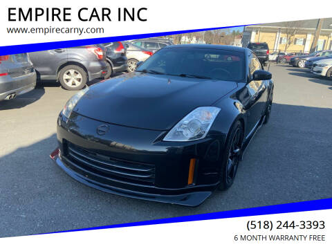 2008 Nissan 350Z for sale at EMPIRE CAR INC in Troy NY