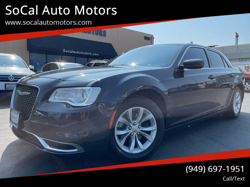 2016 Chrysler 300 for sale at SoCal Auto Motors in Costa Mesa CA