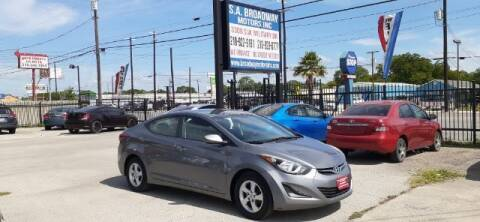 2014 Hyundai Elantra for sale at S.A. BROADWAY MOTORS INC in San Antonio TX