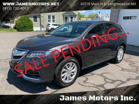 2016 Acura RDX for sale at James Motors Inc. in East Longmeadow MA