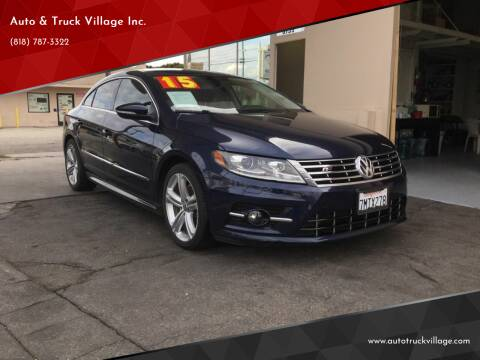 2015 Volkswagen CC for sale at Auto & Truck Village Inc. in Van Nuys CA