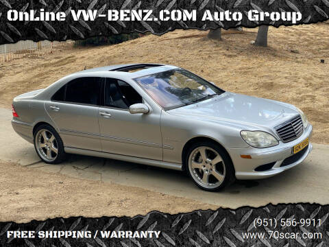 2005 Mercedes-Benz S-Class for sale at OnLine VW-BENZ.COM Auto Group in Riverside CA