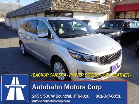 2017 Kia Sedona for sale at Autobahn Motors Corp in Bountiful UT
