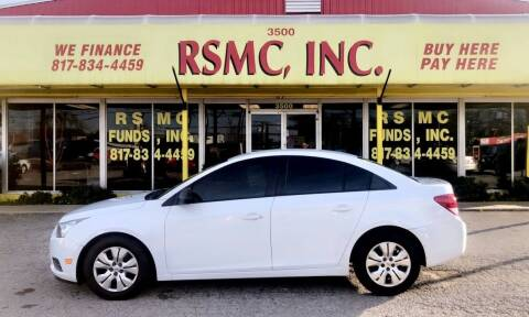 2014 Chevrolet Cruze for sale at Ron Self Motor Company in Fort Worth TX