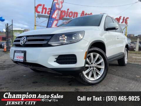 2017 Volkswagen Tiguan for sale at CHAMPION AUTO SALES OF JERSEY CITY in Jersey City NJ