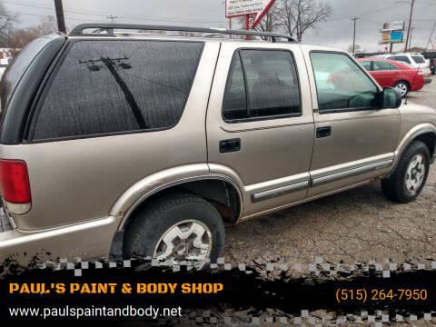 2000 Chevrolet Blazer for sale at PAUL'S PAINT & BODY SHOP in Des Moines IA
