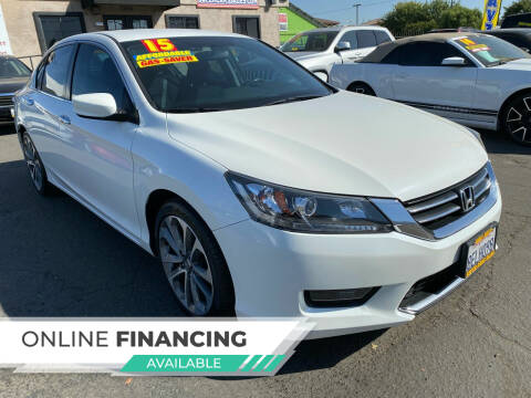 2015 Honda Accord for sale at Super Cars Sales Inc #1 in Oakdale CA