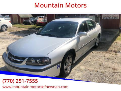 2003 Chevrolet Impala for sale at Mountain Motors in Newnan GA