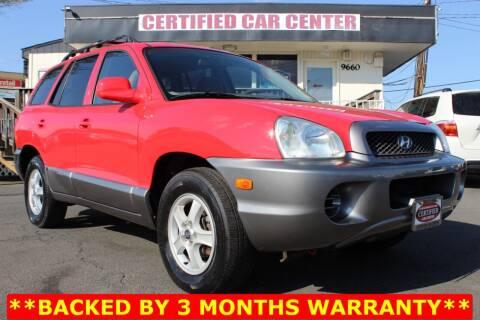 2004 Hyundai Santa Fe for sale at CERTIFIED CAR CENTER in Fairfax VA