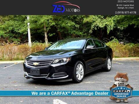 2016 Chevrolet Impala for sale at Zed Motors in Raleigh NC