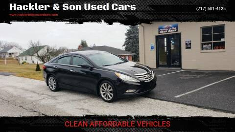 2013 Hyundai Sonata for sale at Hackler & Son Used Cars in Red Lion PA