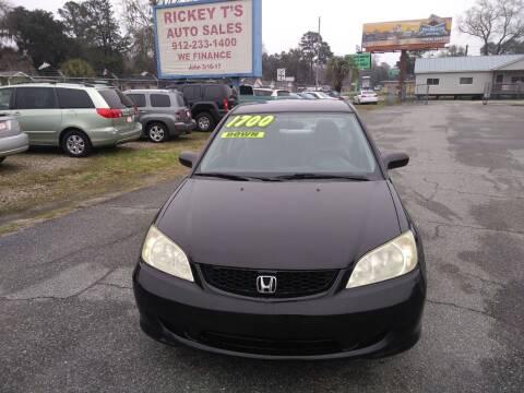 2005 Honda Civic for sale at Rickey T's Auto Sales in Garden City GA
