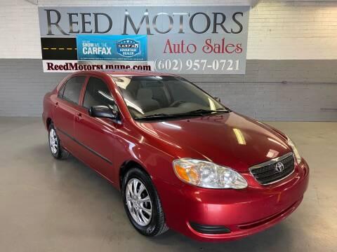 2008 Toyota Corolla for sale at REED MOTORS LLC in Phoenix AZ