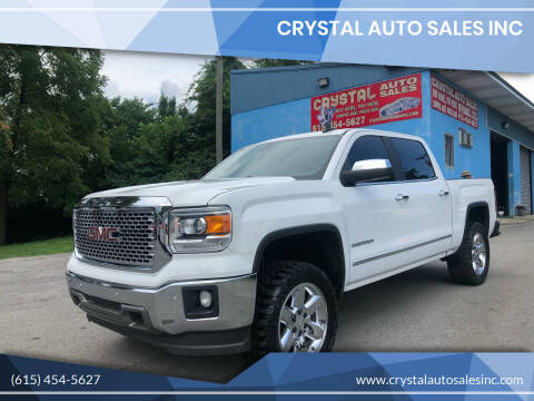 2015 GMC Sierra 1500 for sale at Crystal Auto Sales Inc in Nashville TN