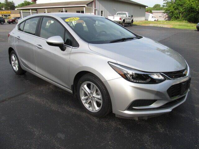 2017 Chevrolet Cruze for sale at Thompson Motors LLC in Attica NY
