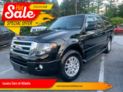 2012 Ford Expedition EL for sale at Luxury Cars of Atlanta in Snellville GA