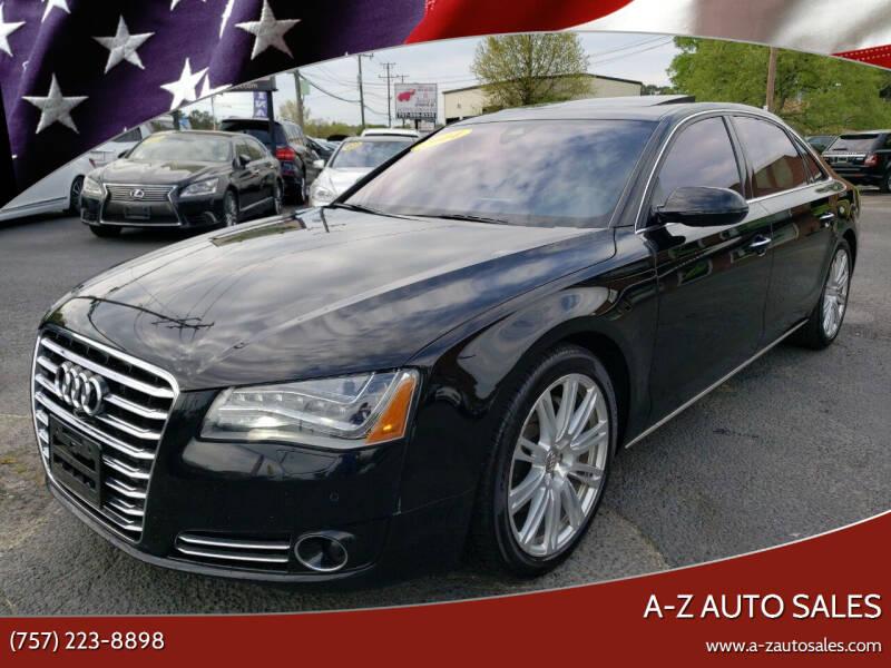 2014 Audi A8 L for sale at A-Z Auto Sales in Newport News VA
