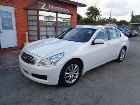2009 Infiniti G37 Sedan for sale at Z MOTORS INC in Hollywood FL