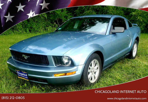 2005 Ford Mustang for sale at Chicagoland Internet Auto - 410 N Vine St New Lenox IL, 60451 in New Lenox IL