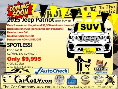 2015 Jeep Patriot for sale at The Car Company in Las Vegas NV