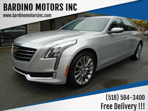 2017 Cadillac CT6 for sale at BARDINO MOTORS INC in Saratoga Springs NY