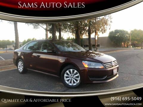 2014 Volkswagen Passat for sale at Sams Auto Sales in North Highlands CA
