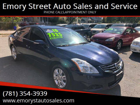 2010 Nissan Altima for sale at Emory Street Auto Sales and Service in Attleboro MA