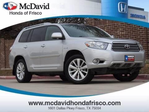 2008 Toyota Highlander Hybrid for sale at DAVID McDAVID HONDA OF IRVING in Irving TX
