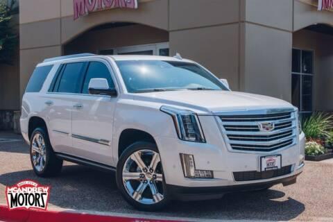 2017 Cadillac Escalade for sale at Mcandrew Motors in Arlington TX